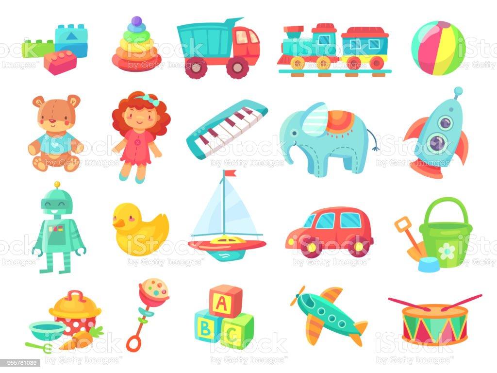 Ilustración Muñeca Dibujos Animados Niños De Los Juguetes Tren 3ARL54jq