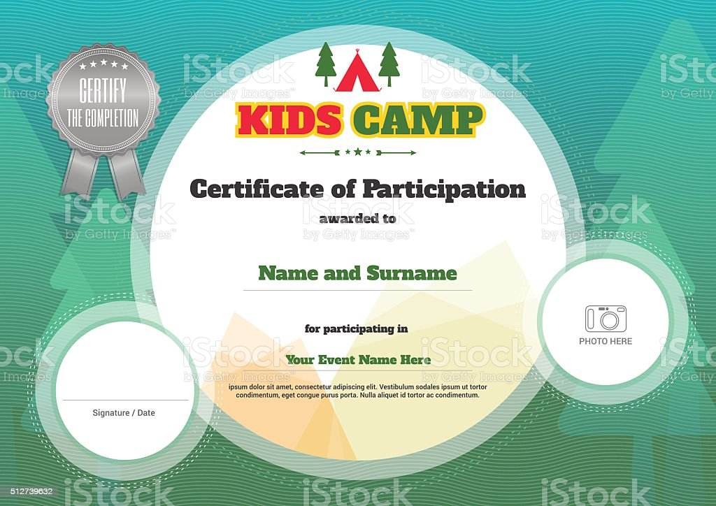 Kids Certificate Template In Vector Stock Vector Art More Images