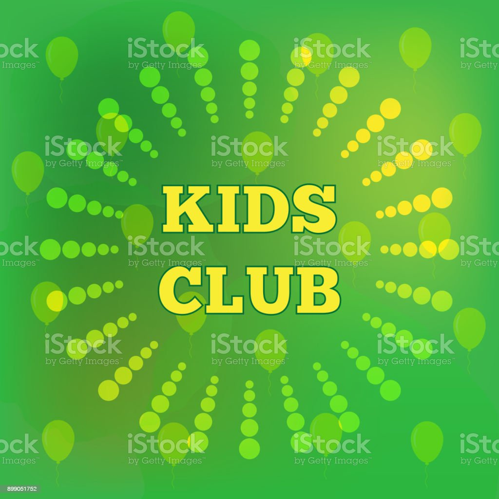Kids Club Color Template Symbol Poster Stock Vector Art & More ...