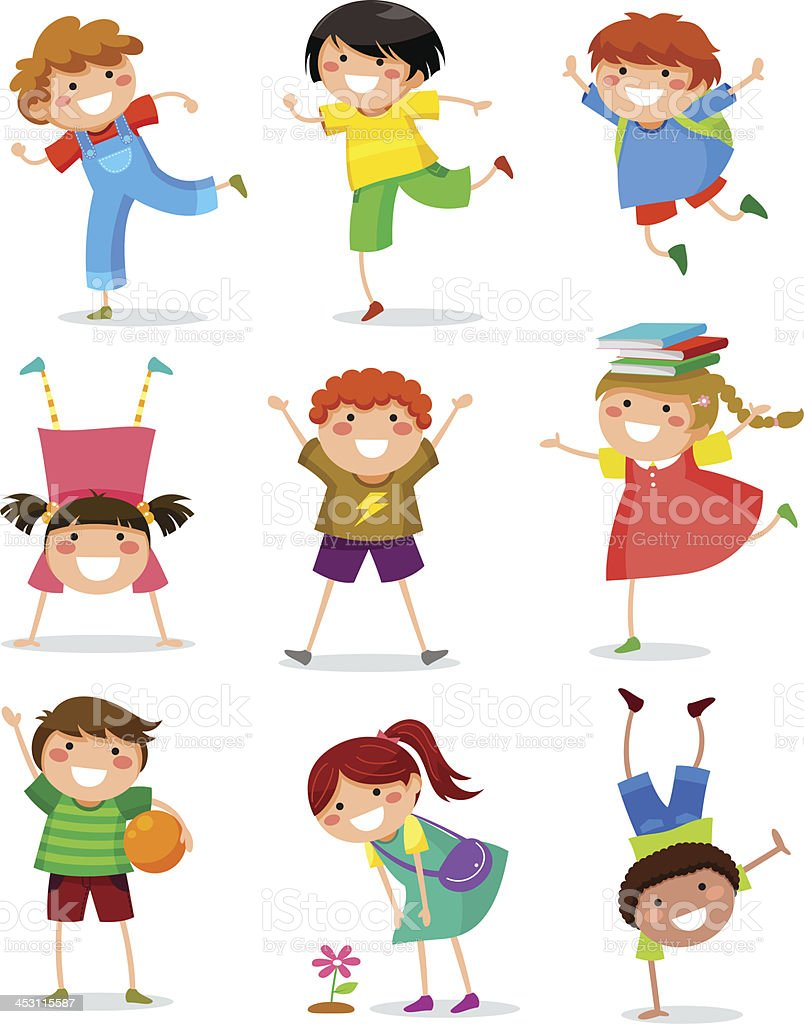 kids collection vector art illustration