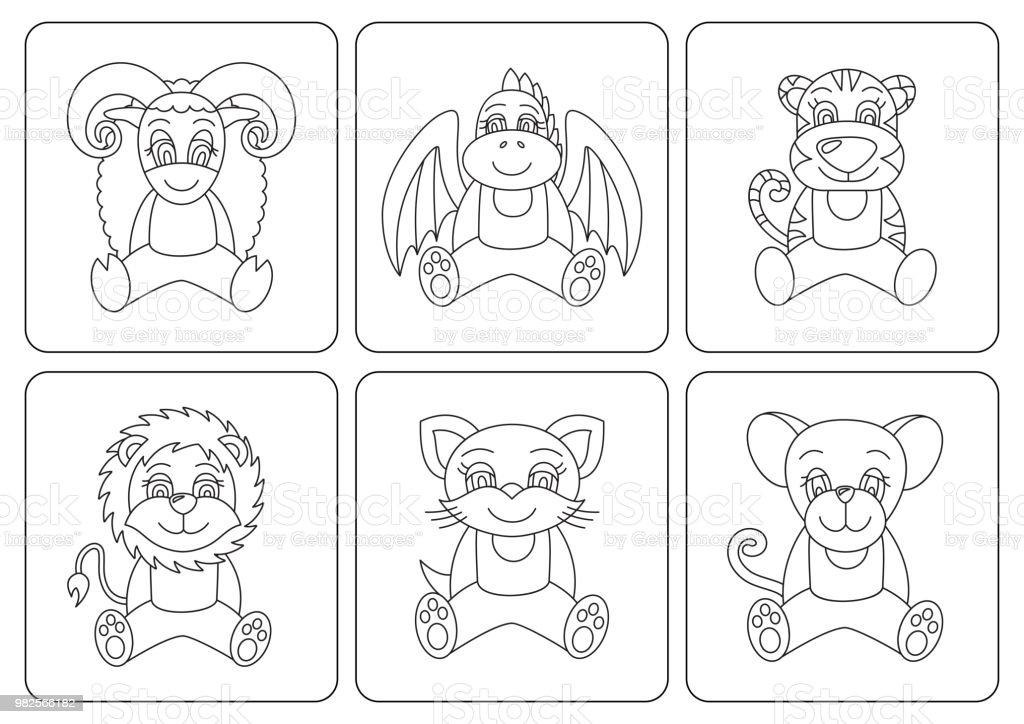 Coloriage Chat Souris.Enfants Coloriages Animaux Rat Dragon Tigre Chat Souris