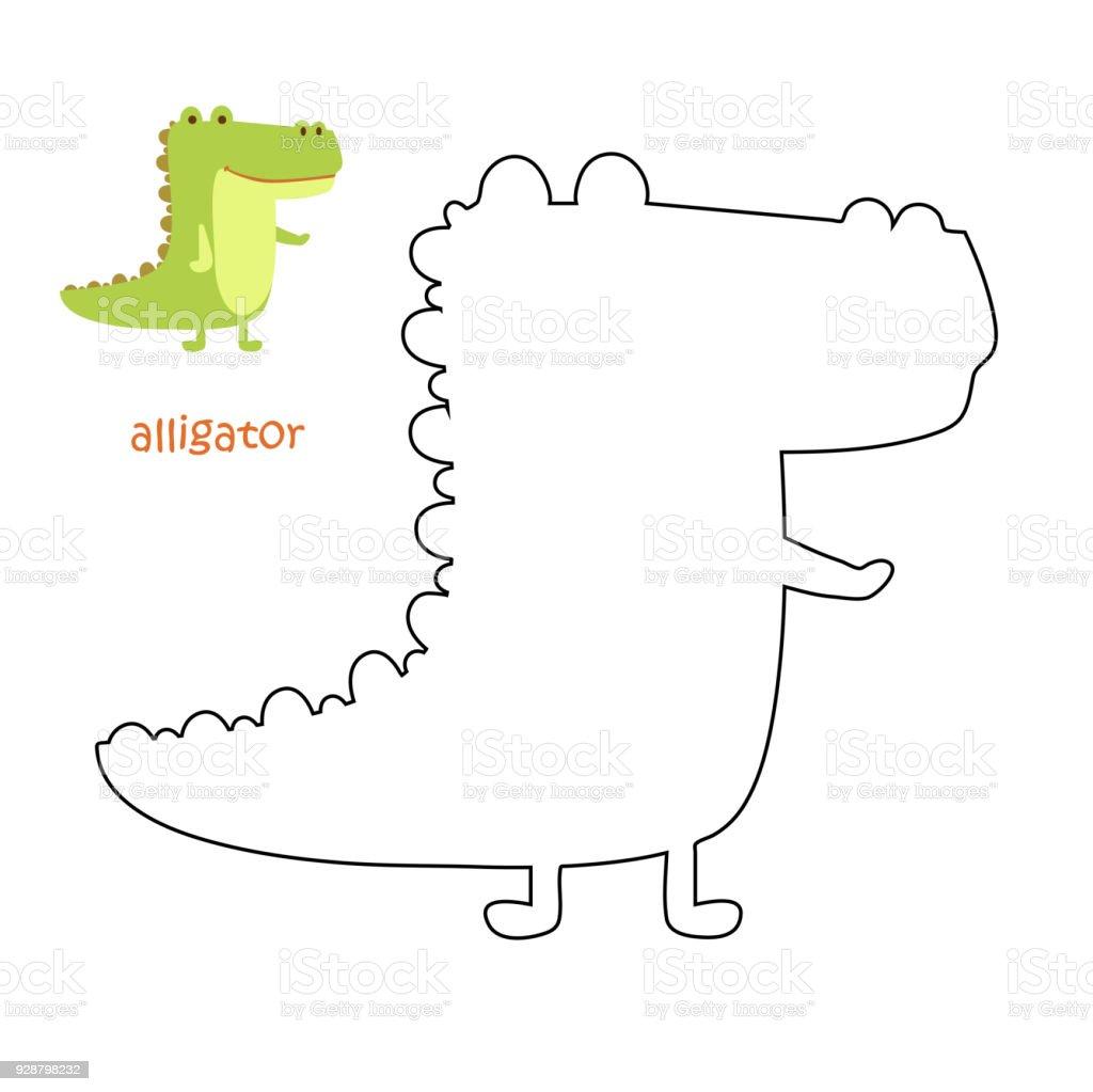 Kinder Malvorlagen Alligator Stock Vektor Art und mehr Bilder von ...
