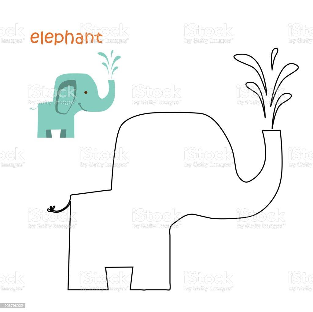 Kinder Malvorlagen Elefant Stock Vektor Art Und Mehr Bilder Von
