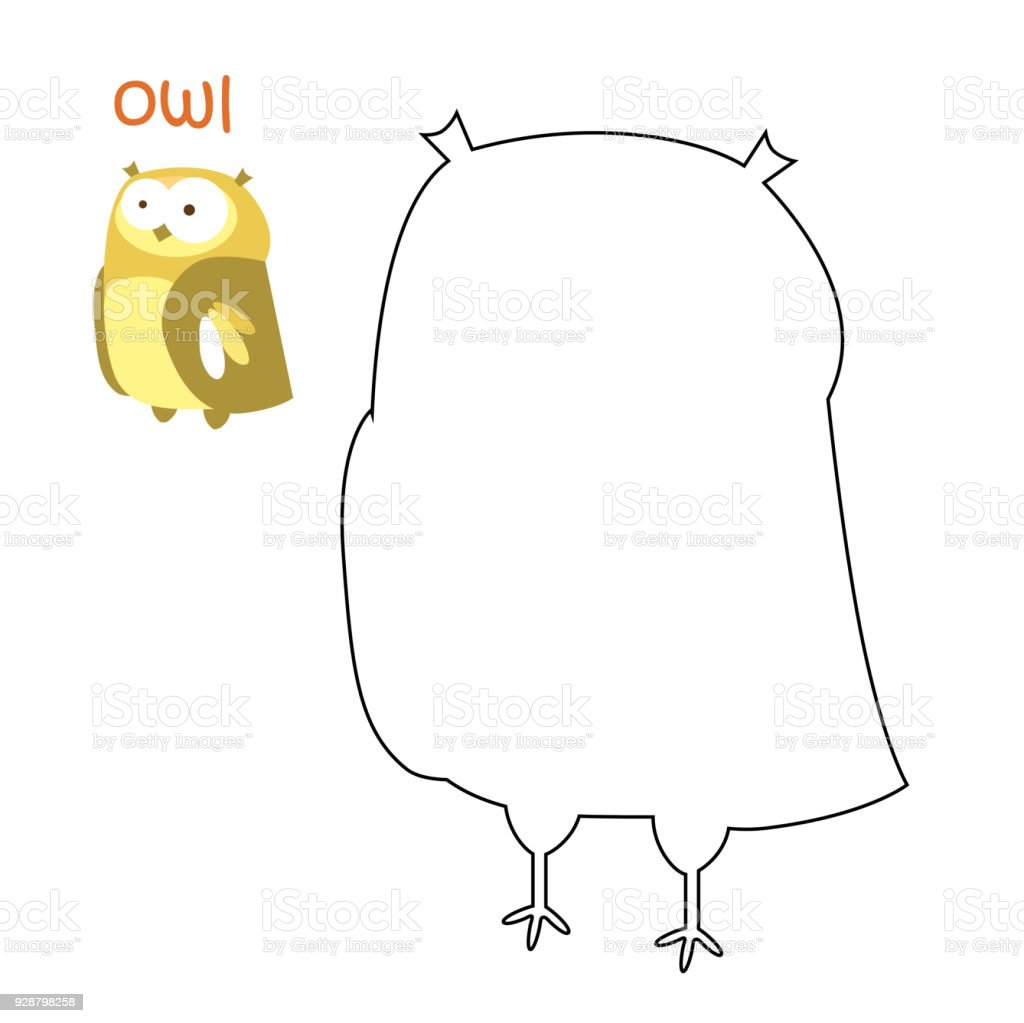 Kids Coloring Page Owl Stock Vector Art More Images Of Animal