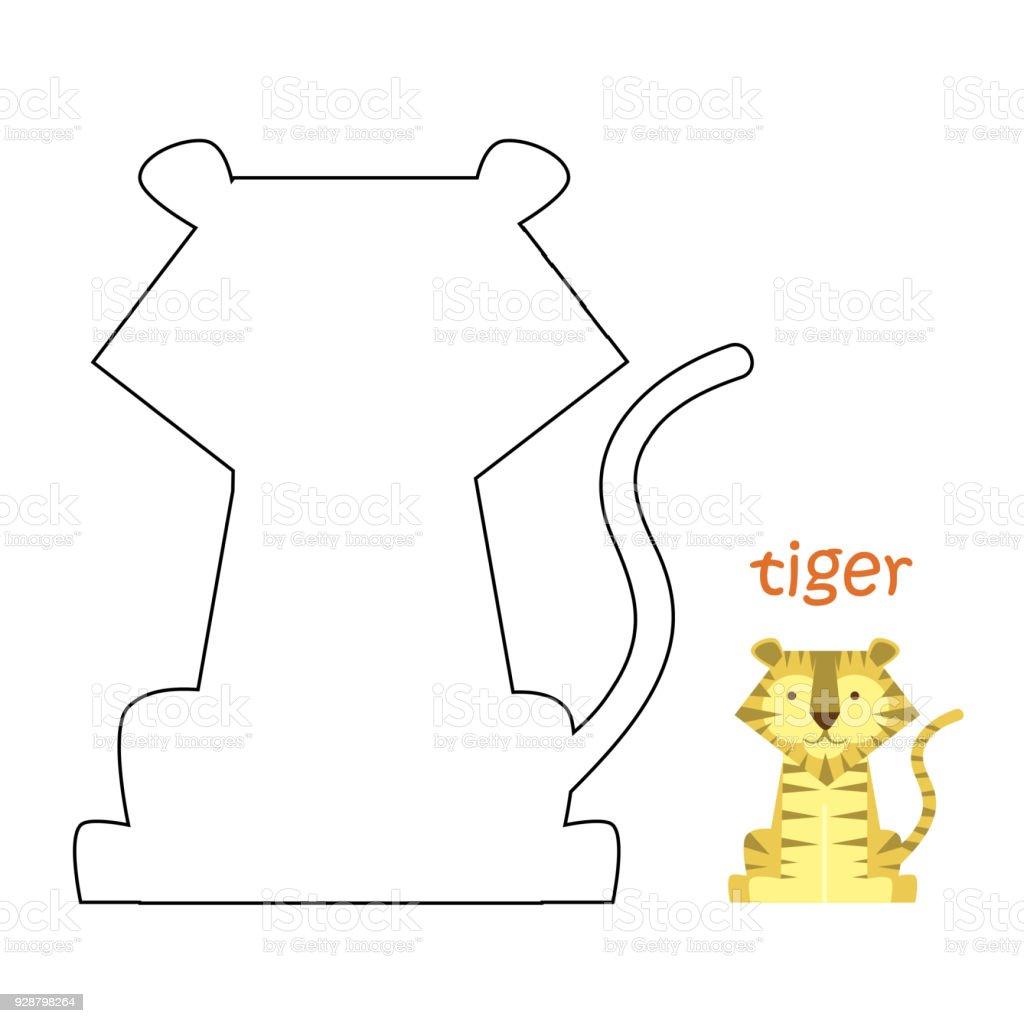 Kinder Malvorlagen Tiger Stock Vektor Art und mehr Bilder von ...