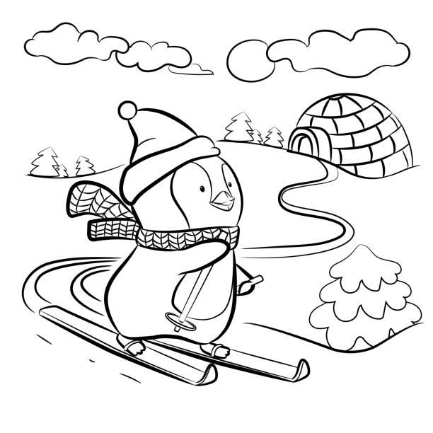 애 들이 페이지를 색칠 - 색칠하기 stock illustrations