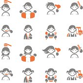 Kids Daily morning icons