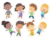 Vector Kids dancing set