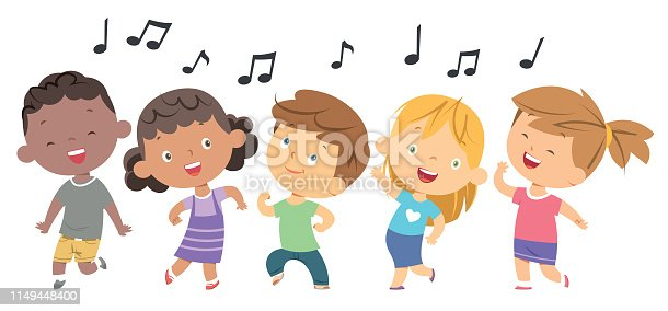 istock Kids dancing 1149448400