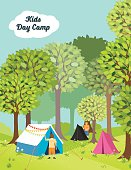 Kids Day Camp In The Woods