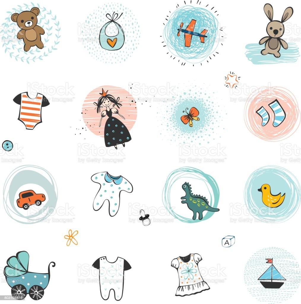 Enfants de conception Set_03 - Illustration vectorielle