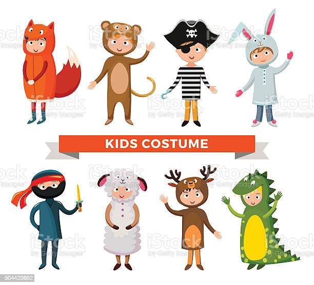 Kids different costumes isolated vector illustration vector id504420652?b=1&k=6&m=504420652&s=612x612&h=xy yer4gxxxgmlchdn4xc6rl v8kd1dlj otgsl65ok=