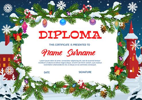 Kids diploma education, christmas gift certificate