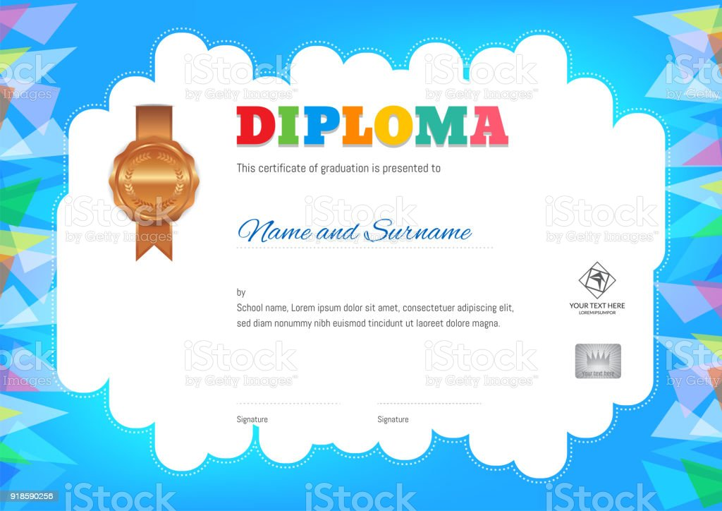 Free Kids Certificate Templates Printable Award Childrens Template