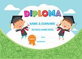 Vector Kids Diploma