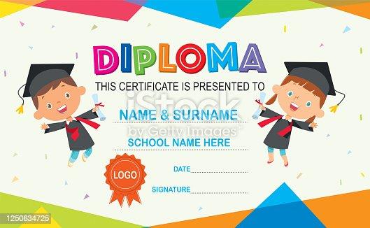 istock Kids Diploma 1250634725