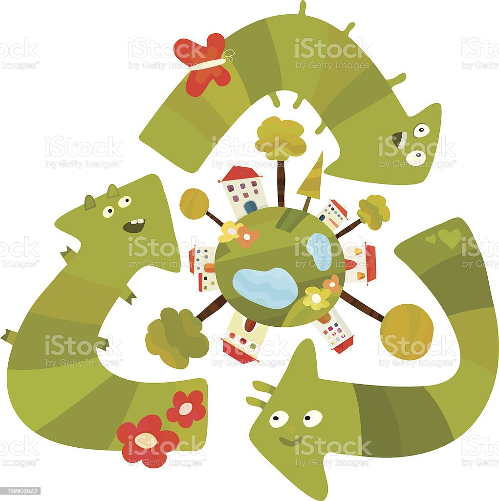 Kids Do Ecology Stock Vector Art & More Images of Abstract 153803520 ...