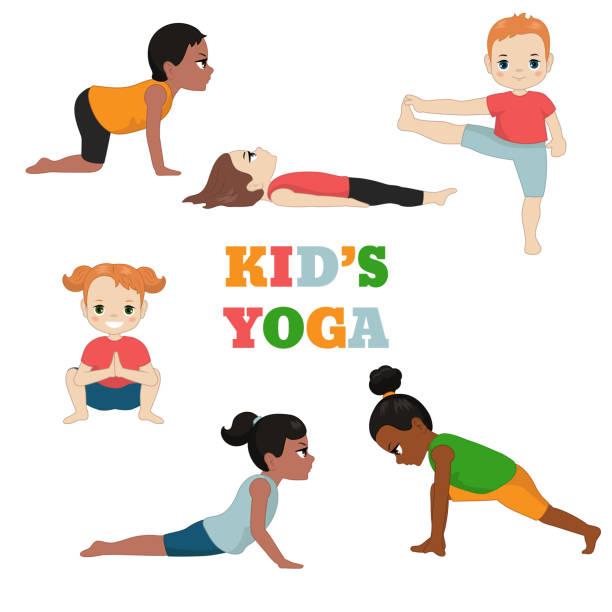 Royalty Free Yoga Happy Baby Pose Cartoon Vector ...