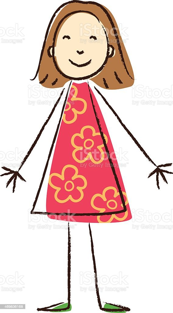 Kids Drawing Girl Stock Illustration Download Image Now Istock