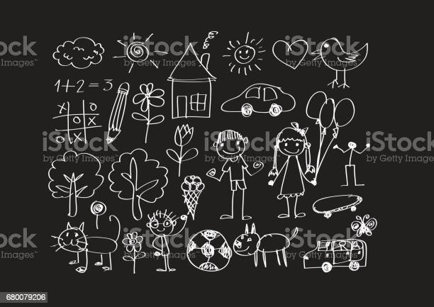 Kids drawing happy family picture vector id680079206?b=1&k=6&m=680079206&s=612x612&h=titjhmoiyejcmdqnl2xt58mrfpp6hb zbluoisopu5q=