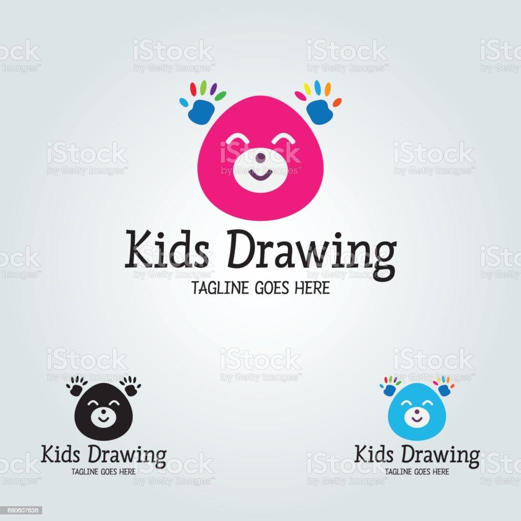 Kids drawing vector vector art illustration