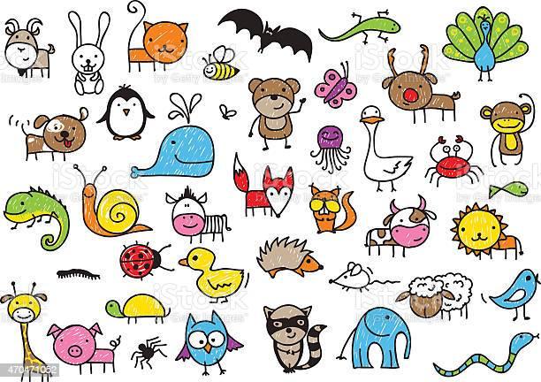 Kids drawings of animals vector id470471052?b=1&k=6&m=470471052&s=612x612&h=ukw xe0ocaqkpq6sqcfkxdhm8fm1uz0dz6zhu8wec08=