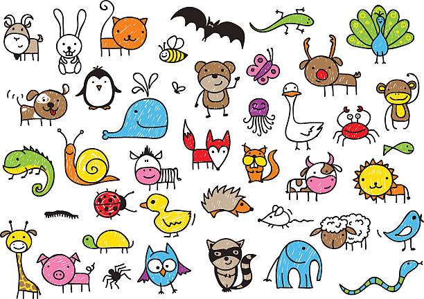 kinder zeichnungen von tieren - lustige schnecken stock-grafiken, -clipart, -cartoons und -symbole