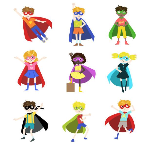 Superhero Kid Illustrations, Royalty-Free Vector Graphics ...