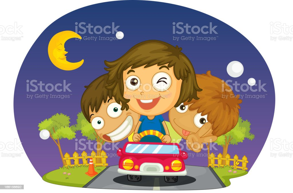 Kids driving royalty-free kids driving stock vector art & more images of adult