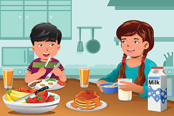 Royalty Free Family Breakfast Clip Art, Vector Images ...