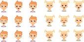 Kids emoji face vector illustration