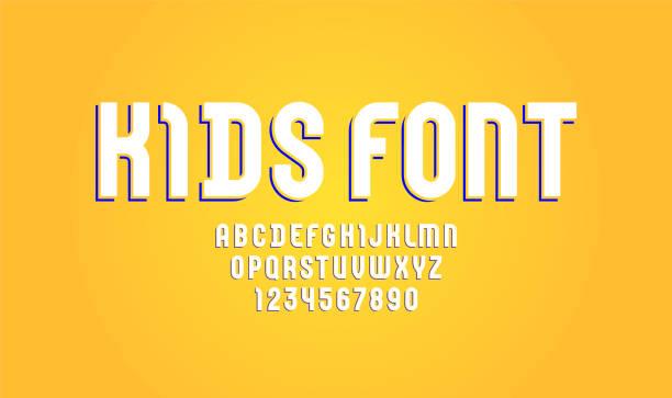 兒童字體、現代時尚字母、白沙拉丁字母(a、b、c、d、e、f、g、h、i、j、k、k、l、m、n、o、p、q、r、s、t、u、v、w、x、y、z)和阿拉伯數位(0、1、2、3、4、5、6、7、8), 9), 向量 10eps - weihnachten 幅插畫檔、美工圖案、卡通及圖標