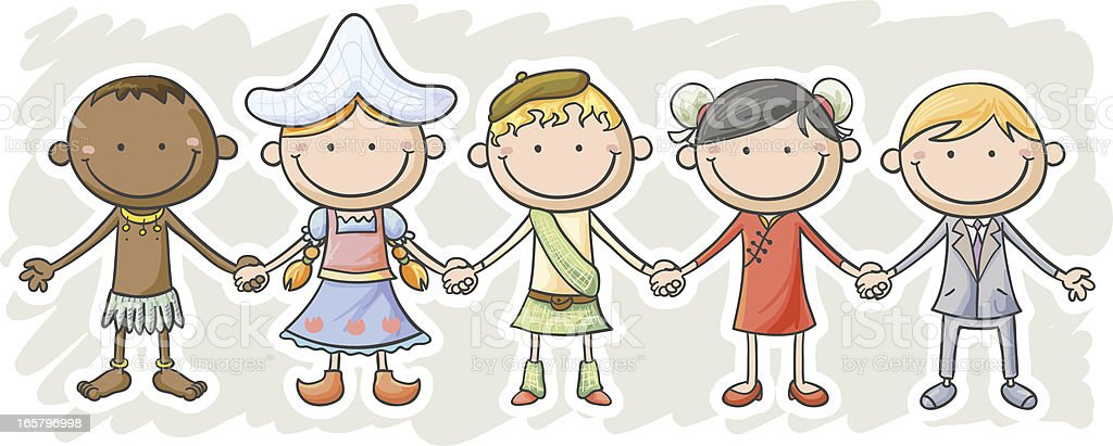 Kids from different countries royalty-free stock vector art