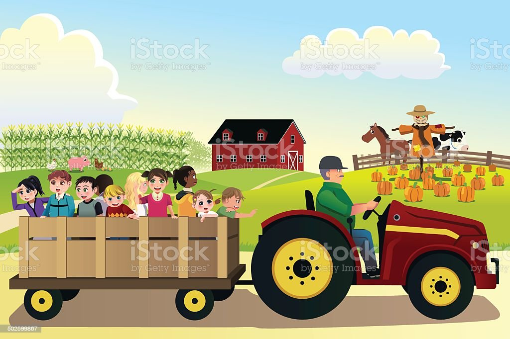 royalty free hayride clip art vector images illustrations istock rh istockphoto com hayride clipart black and white tractor hayride clipart