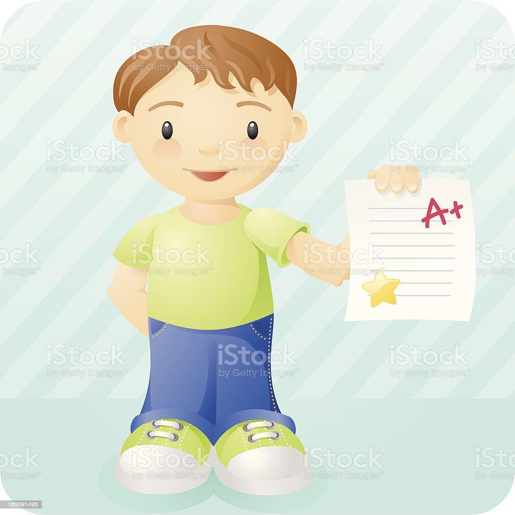 kids: good grades vector art illustration