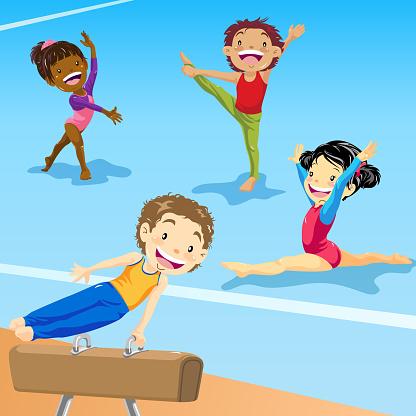 Kids Gymnastics Training