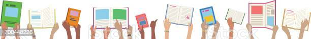 Kids hands reading library books banner vector id700448226?b=1&k=6&m=700448226&s=612x612&h=4f0zscb5zahoywm0xykllnvcpw716vfkz tdnvmrqvg=