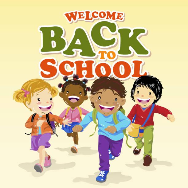 illustrations, cliparts, dessins animés et icônes de enfants à l'école - école primaire