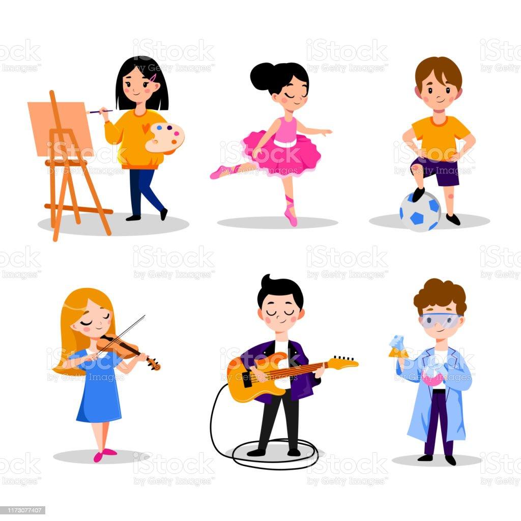 子供の趣味と教育ベクトルフラット漫画のイラスト幼稚園幼稚園での男の子と女の子のレジャー活動 アメリカ合衆国のベクターアート素材や画像を多数ご用意 Istock