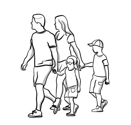 Kids Holding Hands To Cross