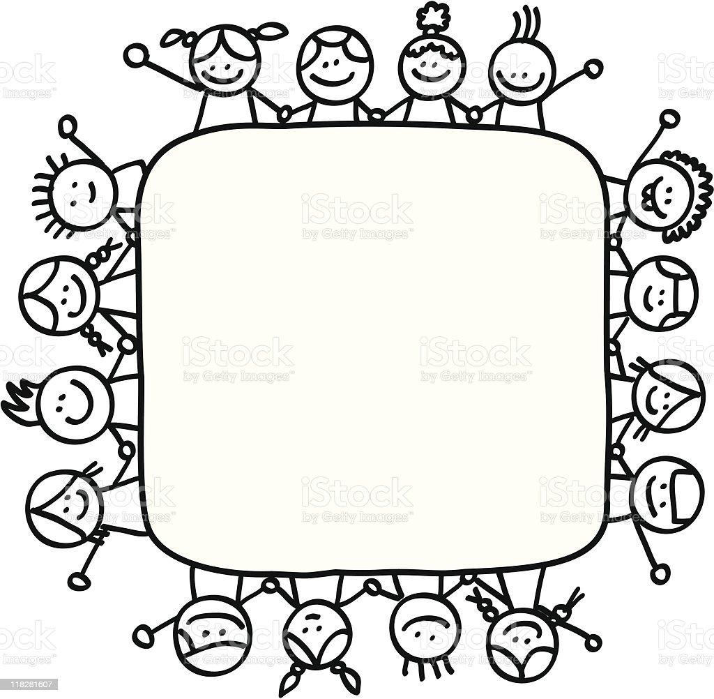 お子様手をつなぐ - いたずら書きのベクターアート素材や画像を多数ご用意 118281607 | iStock