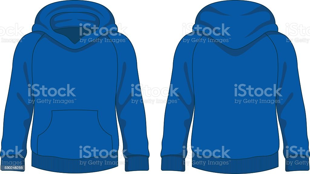 Kids hoodie. Vector template vector art illustration