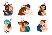 istock Kids hugging dog pets 1225906494