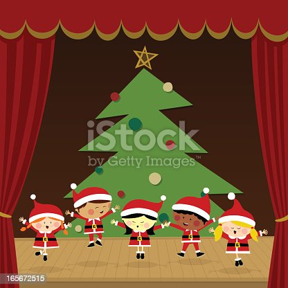 istock Kids in a christmas party 165672515