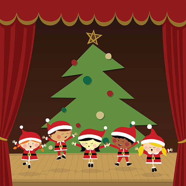 Christmas Play.Best Christmas Play Illustrations Royalty Free Vector