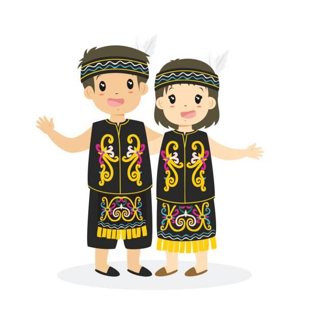 50 Dayak Tribe Illustrations Clip Art Istock