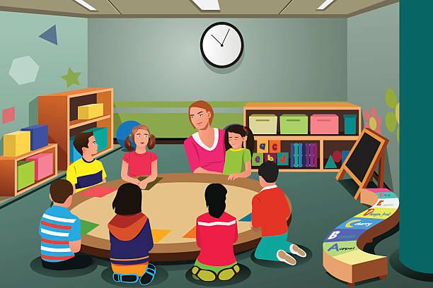 Royalty Free Preschool Teacher Clip Art, Vector Images ...