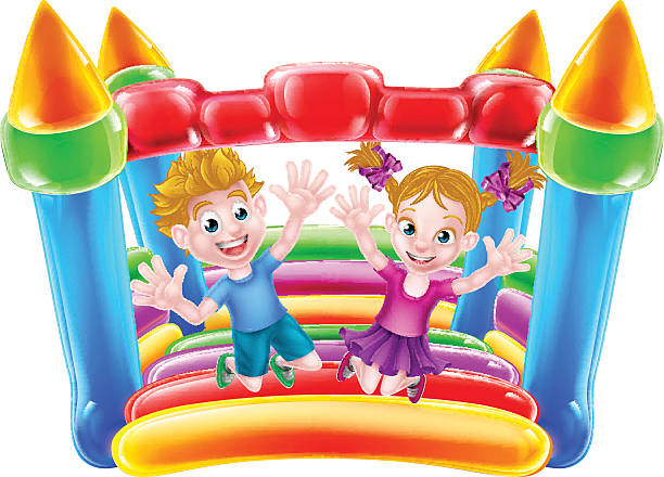 Royalty Free Bounce House Clip Art, Vector Images ...