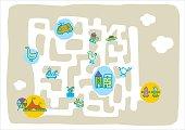 kids labyrinth placemat