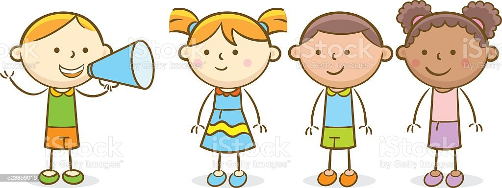 Children Reading Stock Vector Art More Images Of Baby: Kids Leader Stock Vector Art & More Images Of Announcement